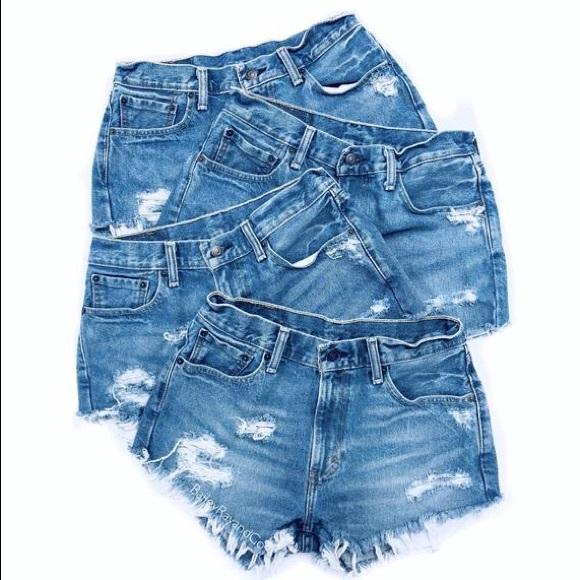 Levi's Pants - Vintage Levi's 501 High Waist Jean Shorts